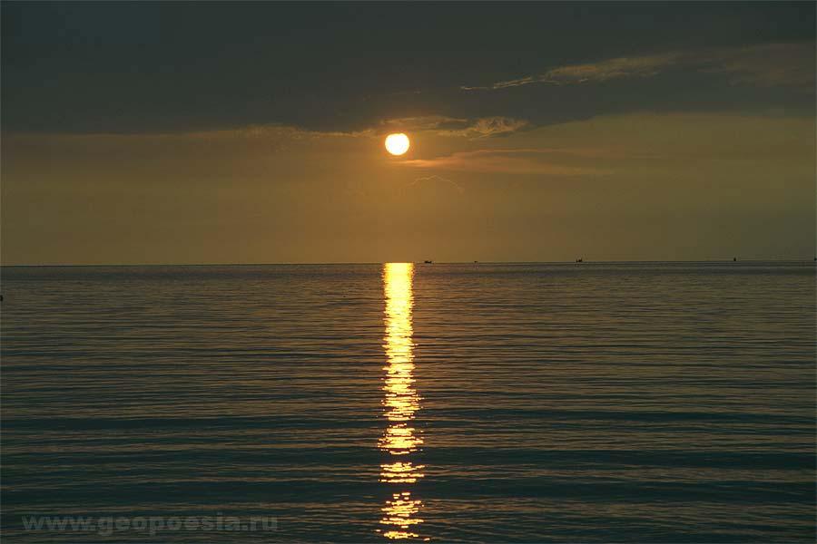Фото закатов на море