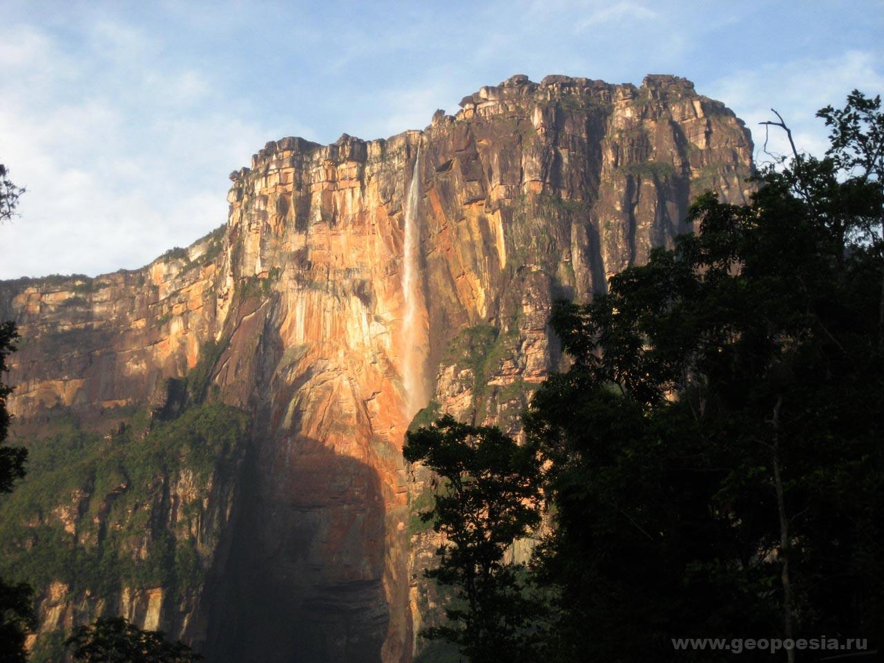 Фото водопада анхель