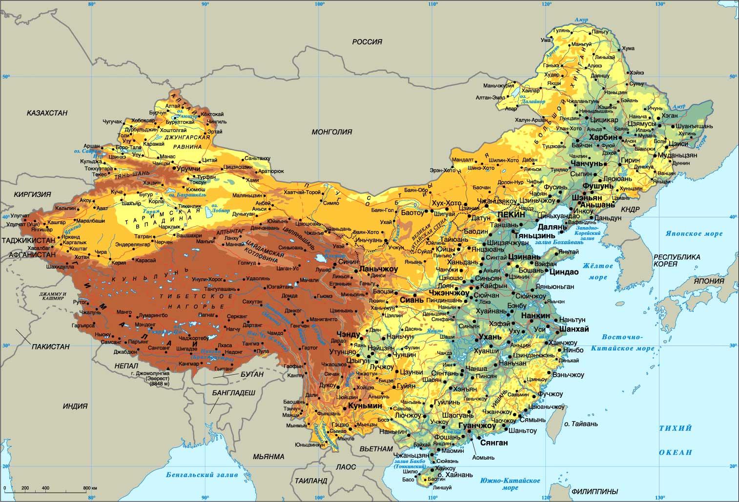 Большая административная карта китая