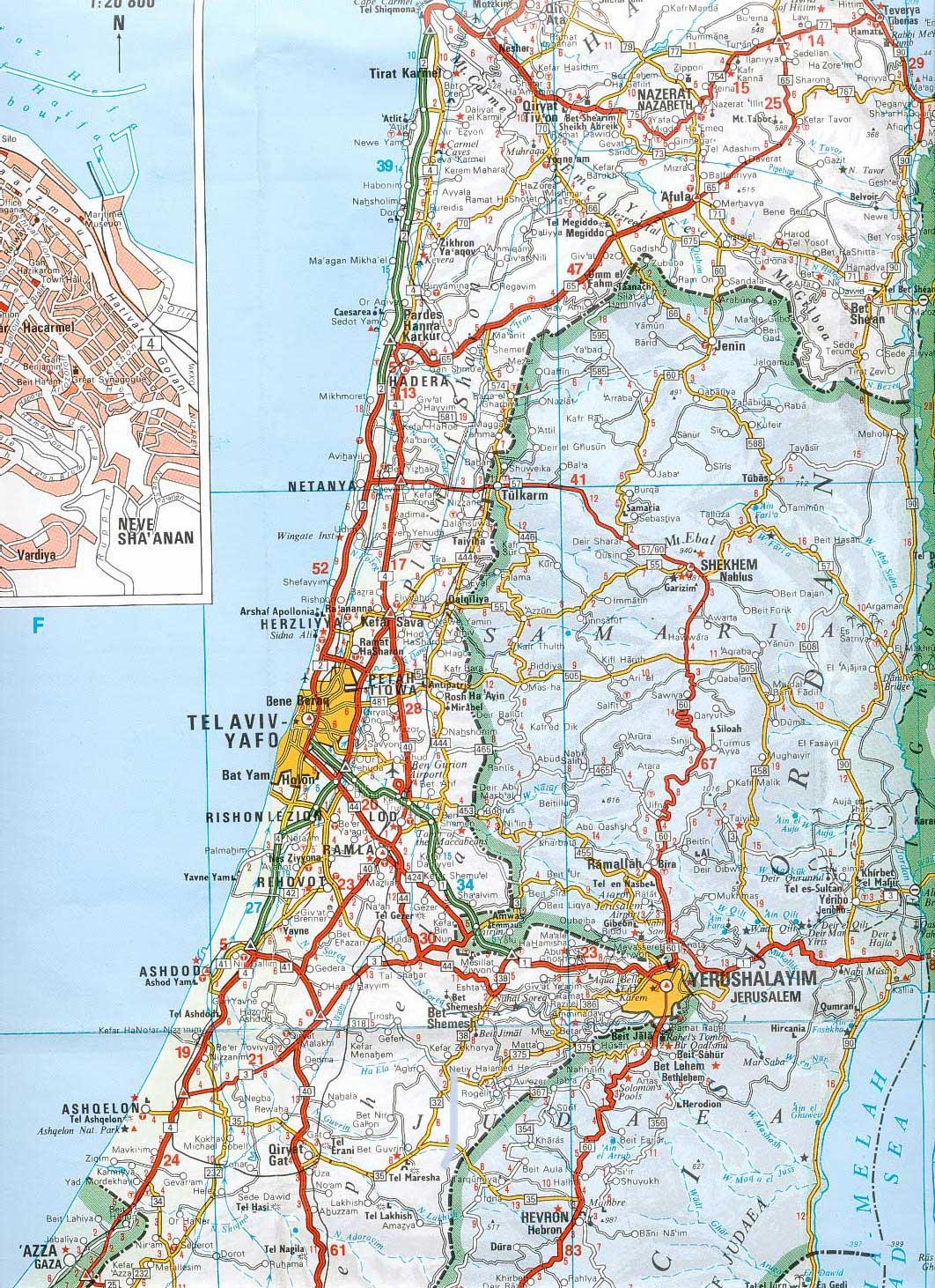 Gt административная карта израиля