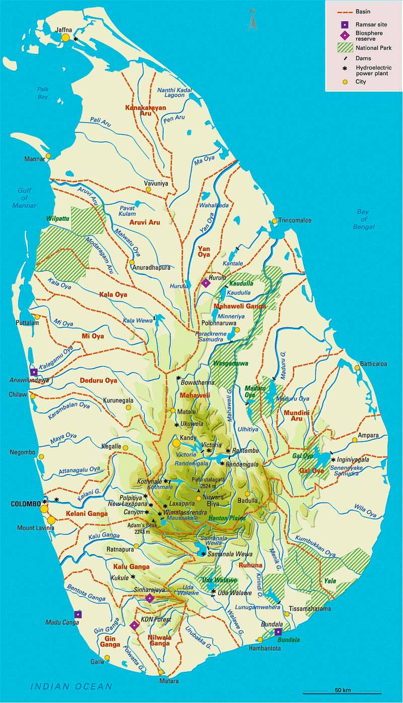 Sri Lanka Map District