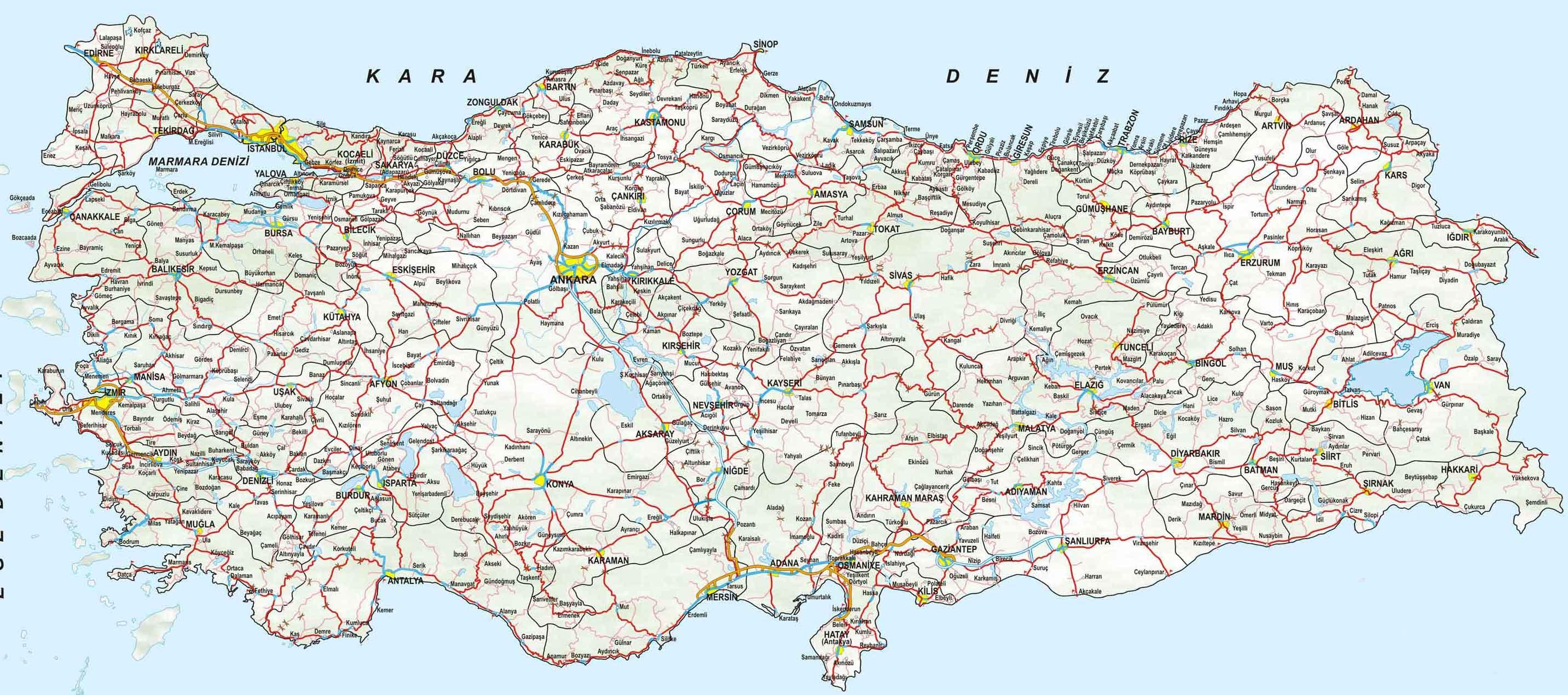 Карта турции map of turkey