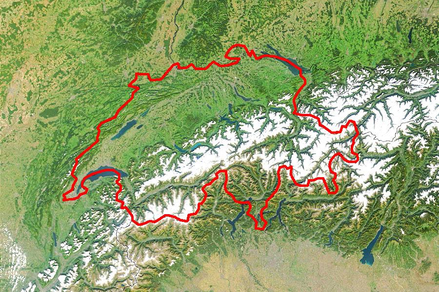 Административная карта швейцарии