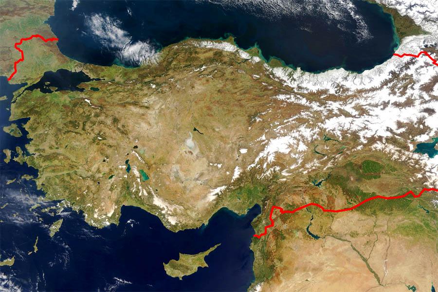 Большая карта турции map of turkey
