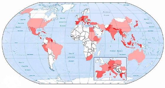 Геопоэтическая карта мира